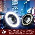 Night Lord 10W 90mm led car light COB Angel Eyes fog light Free Shipping