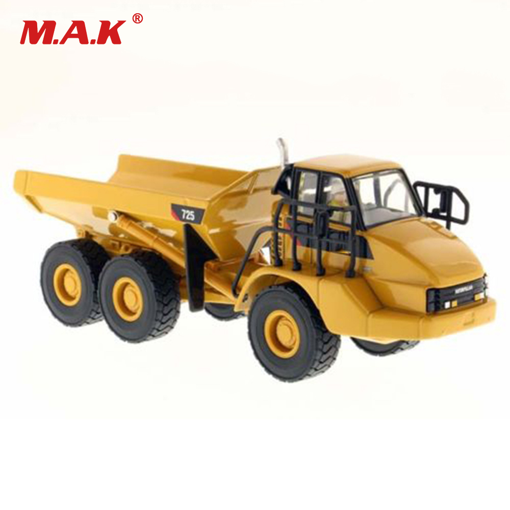 Kid Children Model Toys 1/50 Scale 725 Articulated Dump Engineering Vehicle Truck Model Alloy Simulation Vehicles for Collection hot sale 1set simulation inertia crane set model car alloy plastic transport mine engineering vehicles toys for children gifts