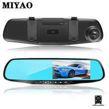 лучшая цена Ront + Rear Dual Lens Car Dvr Camera Rearview Mirror Digital Video Recorder Dash Cam Dvrs HD 1080P Night Vision Auto Registrator