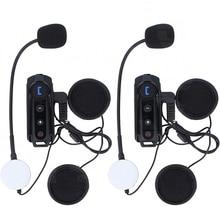 2 pcs 1000M motorbike BT Interphone waterproof motorcycle helmet bluetooth headset Intercom with FM Radio stereo music