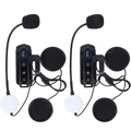 2 pcs1000M BT Interphone waterproof motorcycle helmet bluetooth headset Intercom with FM Radio stereo music