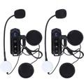 2 pcs1000M BT Interphone waterproof motorcycle helmet bluetooth headset Intercom with FM Radio stereo music
