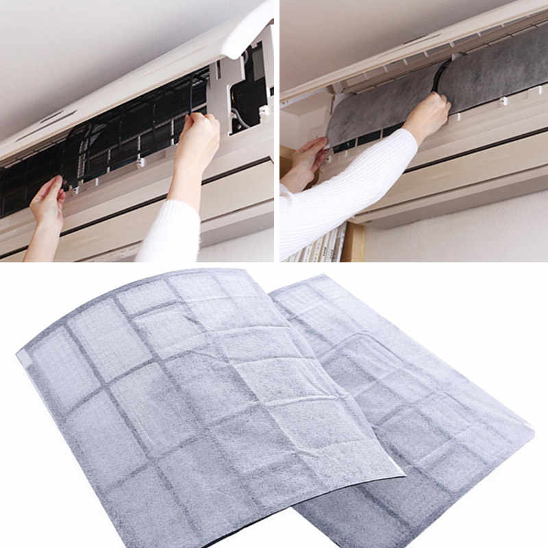 Air Cleaning Filter Dust Control Household Practical 2 Sheet Dustproof Paper Convenient Livingroom PET Air Conditioning Filter