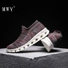MWY de punto transpirable calcetines Zapatos de ocio Zapatillas de Hombre de los hombres zapatos casuales zapatos de plataforma de peso ligero Zapatillas de deporte zapatos para caminar al aire libre