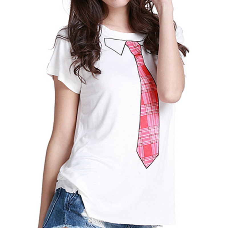 Women Funny Letter Printing Casual T Shirt 20