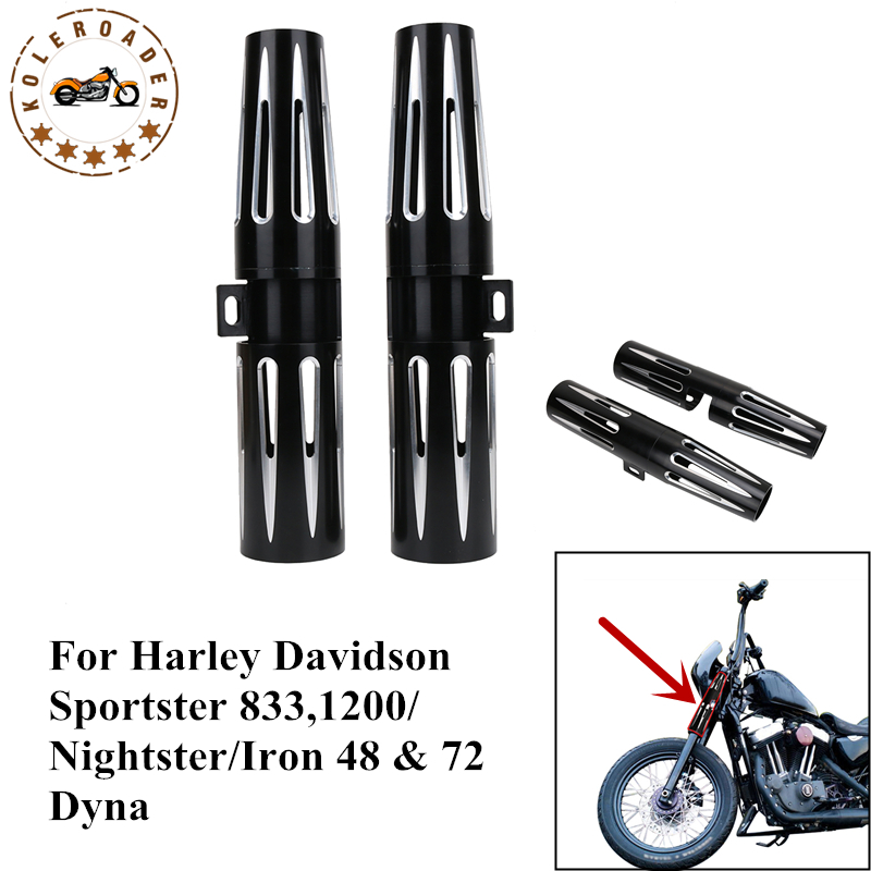 High Quality 39mm Motorcycle Fork Shrouds Boot Cover Narrow Glide For Harley Sportster 883 1200 XL Nightster Iron 48 72 MBJ129 mtsooning timing cover and 1 derby cover for harley davidson xlh 883 sportster 1986 2004 xl 883 sportster custom 1998 2008 883l