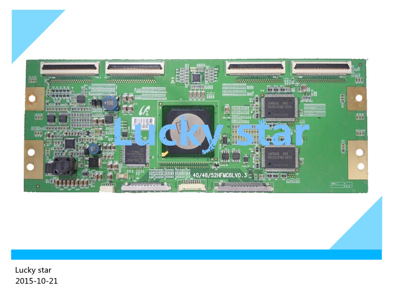 все цены на 98% new good working High-quality original for board 40/46/52HFMC6LV0.3 T-con logic board 2pcs/lot онлайн