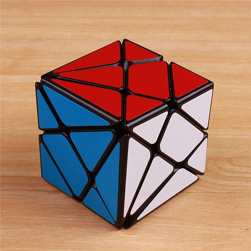 YongJun YJ Axis cubo mágico ultra suave 57 mm pegatina profesional velocidad rompecabezas fantasma cubo mágico educativo divertidos juguetes