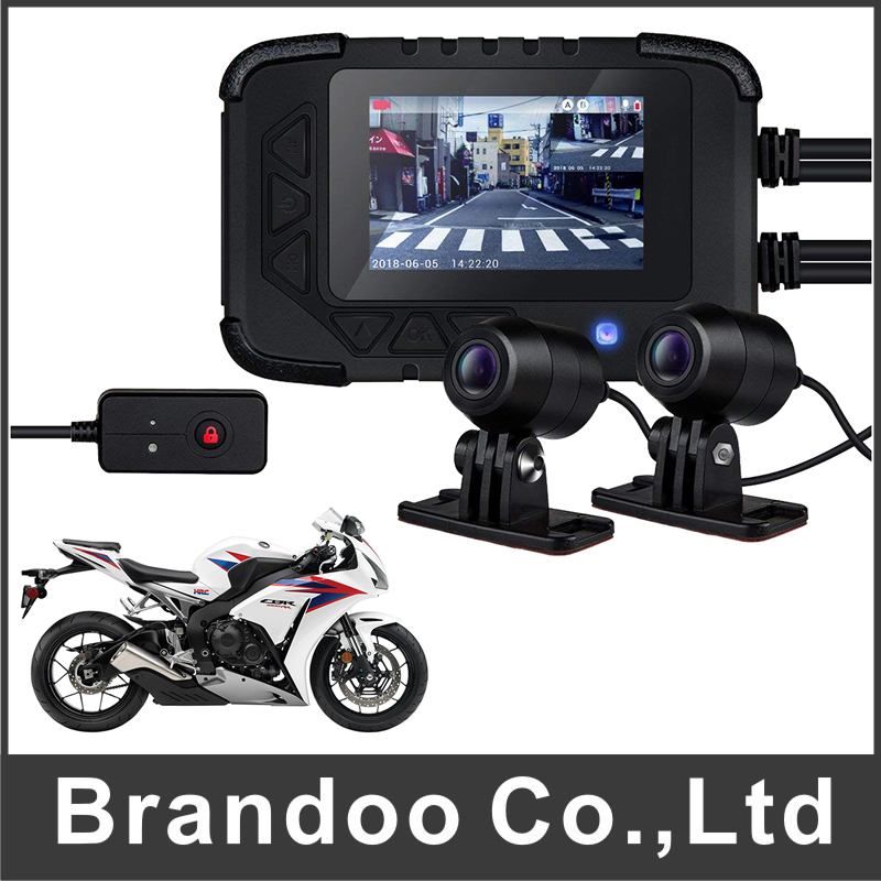 1080P HD Motorcycle DVR Motorbike Video Record Front Moto Camera Rear View Supported SD Card motorbike front