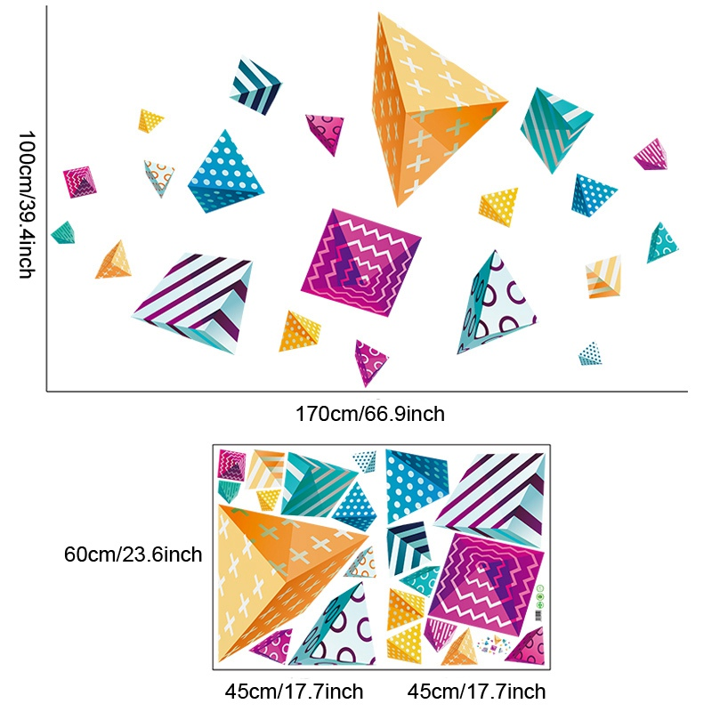 creativity pattern polygonal wall stickers for party decor company