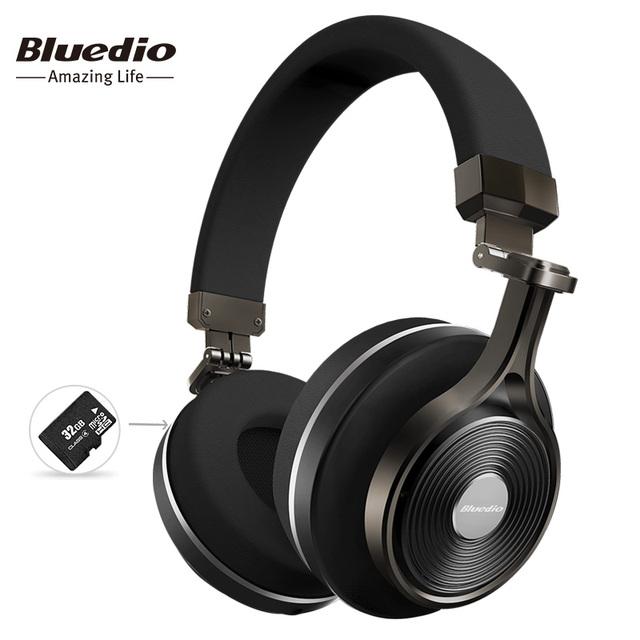 Bluedio t3 plus wireless bluetooth auriculares/auriculares con micrófono/ranura de la tarjeta sd micro bluetooth auricular/receptor