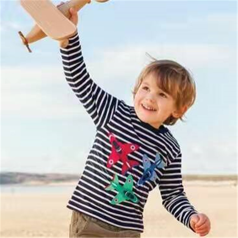 2018 long sleeve Kids Clothes Children Boys T shirt Baby boys striped T-shirts Spring Autumn Winter Tees Clothing Tops T-shirt striped print ringer t shirt