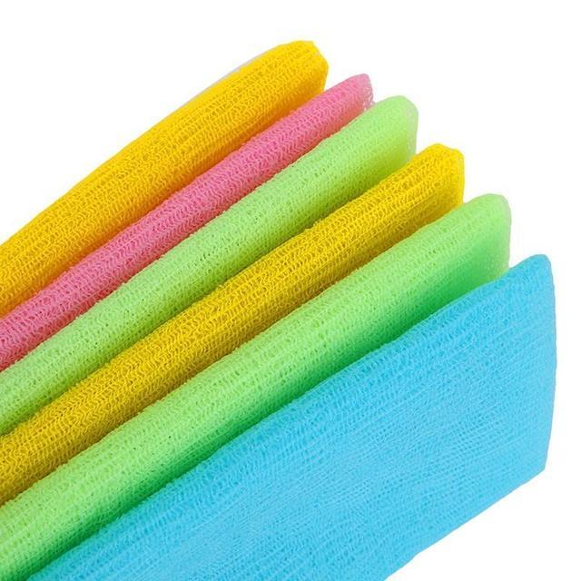 1PC Nylon Mesh Bath Shower Body Washing Clean Exfoliate Puff Scrubbing Towel Cloth Scrubber Soap Bubble For The Bath Like Loofah 2