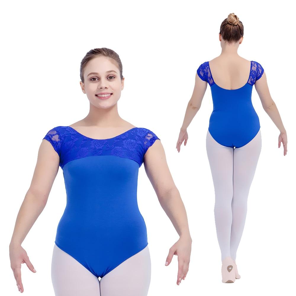 Dancer' Choices Royal Blue Cotton Lycra Lace