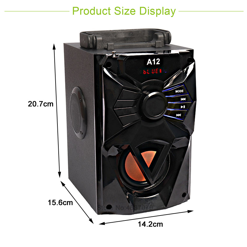 Patent Wireless bluetooth Speaker Portable Music Heavy Bass Speaker With handler Portable speaker outdoor speaker in Portable Speakers from Consumer Electronics