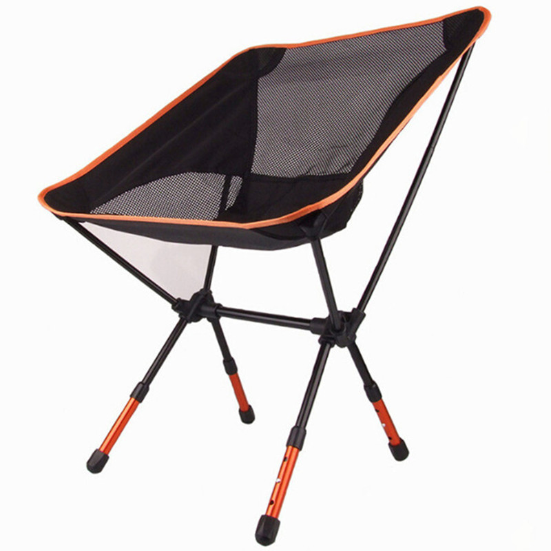 ФОТО High Quality Aluminium Alloy Mesh Portable Chair For Fishing Camping Outdoor Sports Ultralight Barbecue Folding Chairs