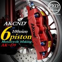 AKcnd motorcycle refit 100mm brake calipers For yamaha Honda pcx dio kawasaki versys nmax155 aerox smax msx125 Motorbike Modify