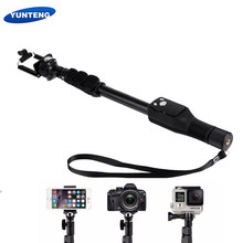 Original Yunteng 1288 Selfie Sticks Handheld Monopod + Phone Holder Bluetooth Shutter for iPhone Xiaomi Smart phone GoPro Camera