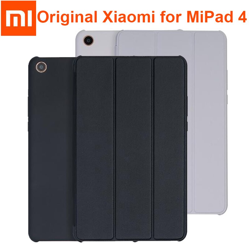 """Original Xiaomi Mi Pad 4 Plus / Pad4 Smart Case Tablet Frosted PU Leather Flip Cover MIPAD 4 Sleeve 8"""" Full Protector Sleeve Bag"""