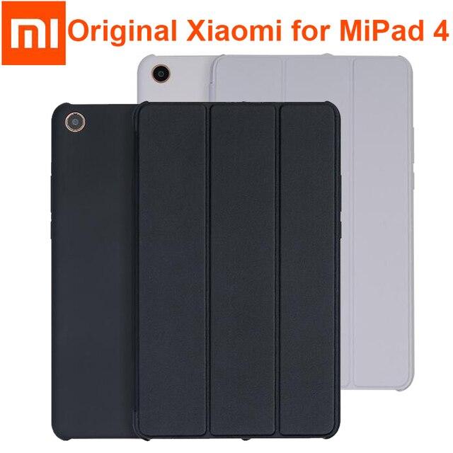the latest fffa9 4b397 US $6.98 |Original xiaomi mi pad 4 plus / pad4 Smart Case tablet Frosted PU  Leather Flip Cover MIPAD 4 Sleeve 8