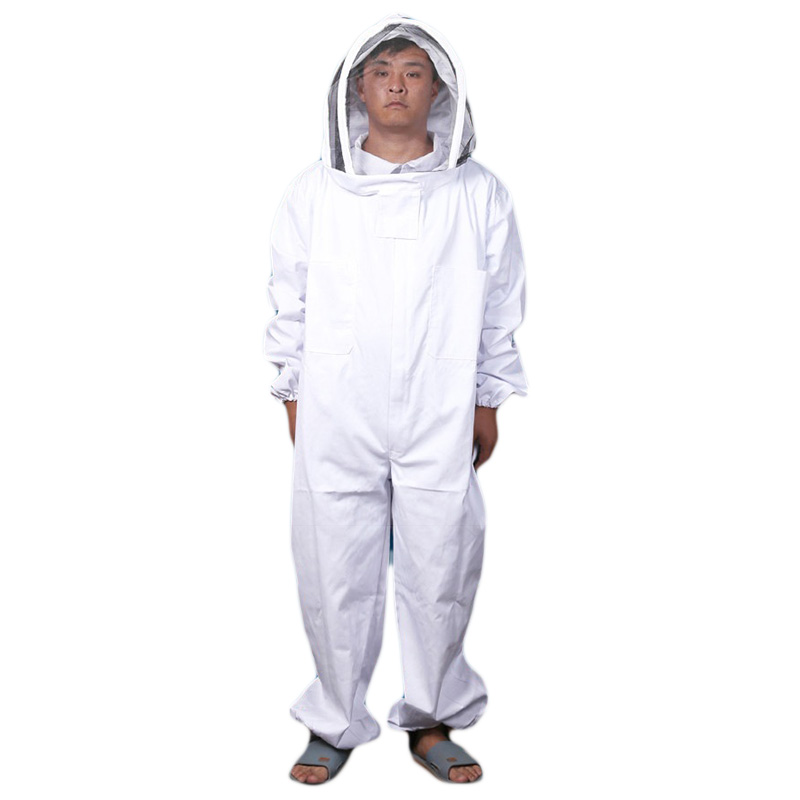 Bee Keeping Suit Removeable Hat Anti-bee Protective Safety Coveralls Smock Equipment Supplies Beekeeping Jacket Veil Set beekeeper beekeeping protective veil suit smock bee hat gloves full body set new safety clothing