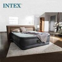 INTEX роскошный двойной слой воздушный матрас линия тянуть воздушная кровать толстый коврик Встроенный Электрический насос 64486