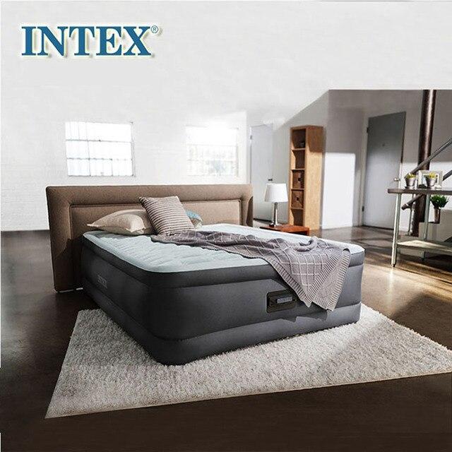 intex luxe double double couche matelas pneumatique traction lit d air epais tapis pompe electrique