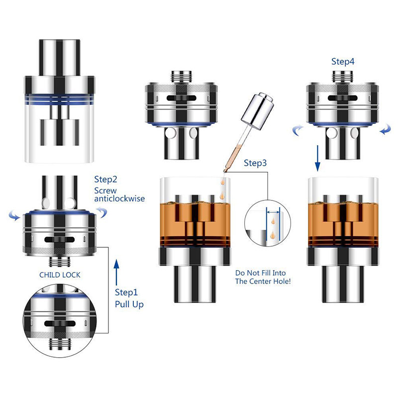 FERSHA electronic cigarette Lite-40 vape mod kit box Original atomizer 0.5 ohm 3ml Adjustable atomizer