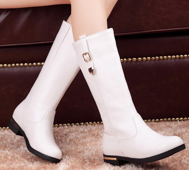 Click here to Buy Now!! Nouveau femmes Neige Martin Bottes Genou Longues  Chaussures Pour Femmes Occasionnels Boucle chaussures bottes Plus ... 5981a7dba04