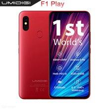 """UMIDIGI F1 Gioco 48MP + 8MP + 16MP 5150mAh del telefono Mobile Android 9.0 6GB di RAM 64GB ROM 6.3 """"FHD Versione Globale Smartphone Dual 4G"""