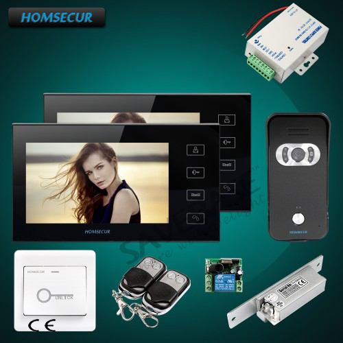 HOMSECUR 7 Video Door Phone Intercom System+Sensor-Controlled IR Lights for Quality Night Vision