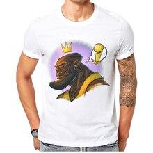 2019 Special Discount James T Shirt Men 100 Cotton O-Neck Short Sleeve Basketball King Cartoon Print Male Tops Tees Mens T-Shirt