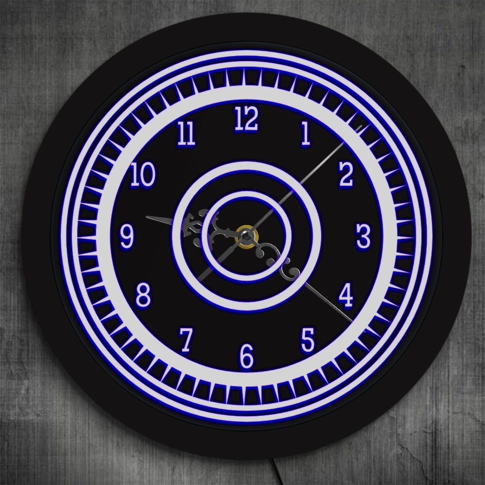 Luminous 3D Wall Clock With Silent Non-Ticking Arabic Numerals Illuminated Edge Lit Bar Beer Neon Sign Wall Clock With LED Light