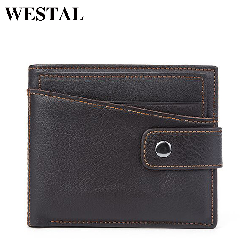 WESTAL Men Genuine Leather Wallet Man Wallet Coin Purse Men Wallets Card Holder Credit Card Male Clutch Mens Wallets 8934 westal wallet male genuine leather men s wallets for credit card holder clutch male bags coin purse men genuine leather 9041
