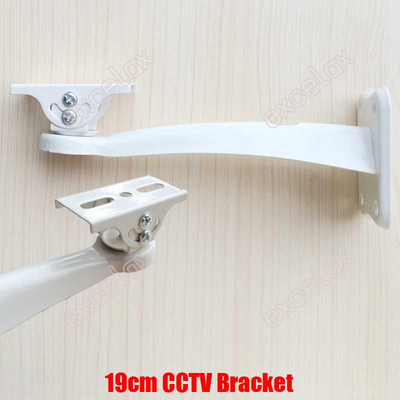 19cm uzunluk beyaz siyah Metal güvenlik kamerası duvar montaj dirseği desteği güvenlik Zoom kutusu vücut kurşun kamera muhafazası muhafaza