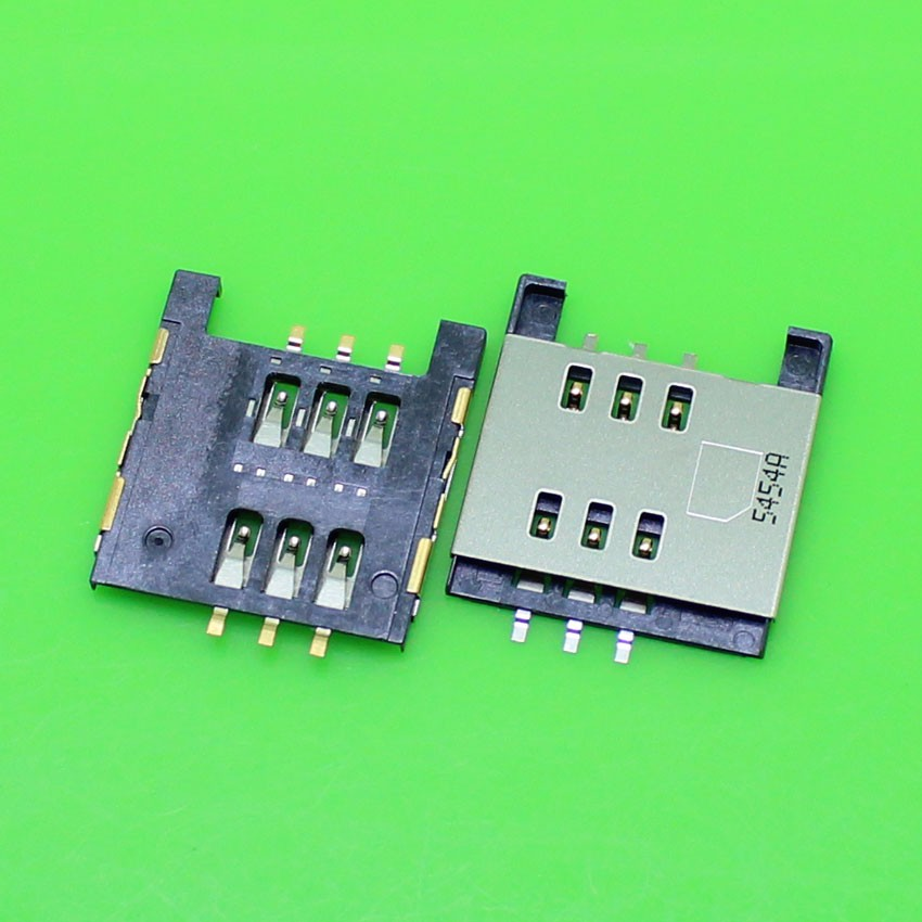 2PCS/LOT,Brand new sim card reader for Blackberry 9720 connector socket slot ,