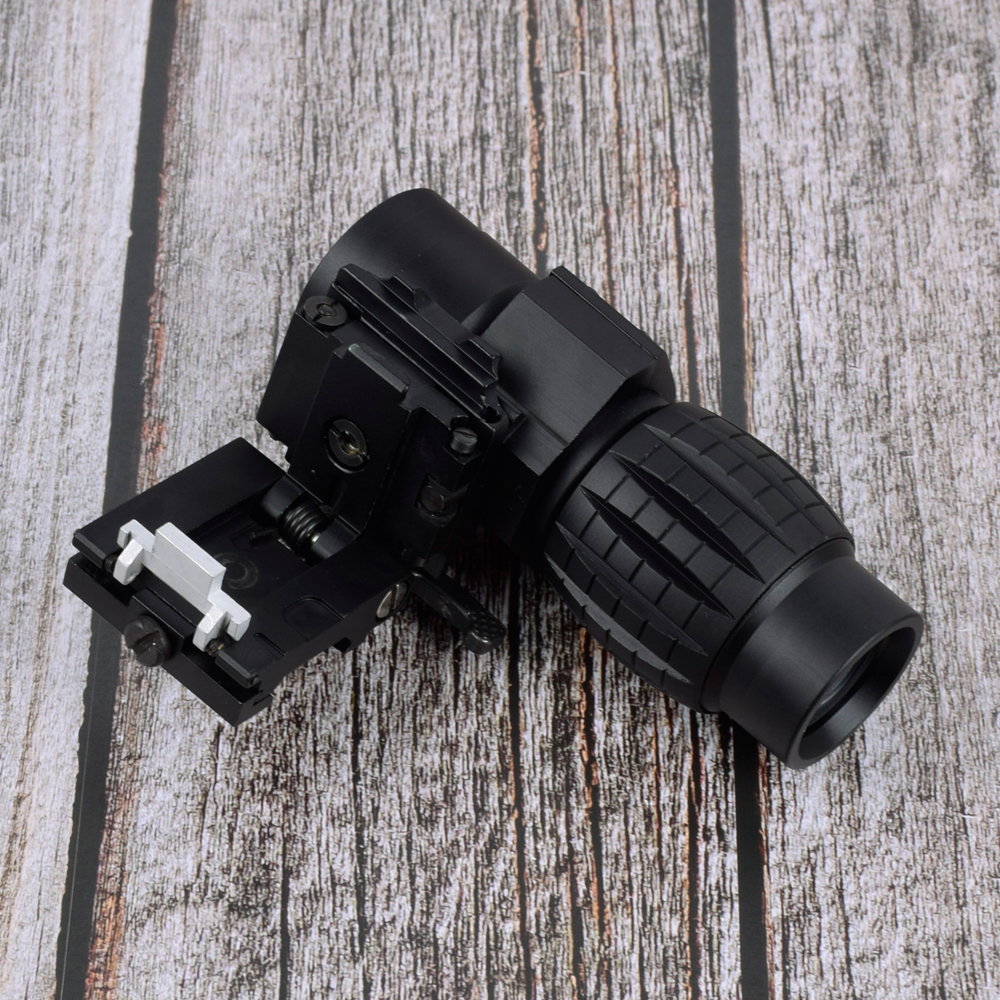 Tactical red dot sight scope 3x Magnifier Compact Sight with Flip UP Mount Side picatinny Airsoft Rifle gun rail mount Hunting free shipping 20mm rail tactical 4x magnifier quick flip scope w flip to side mount fit for holographic sight