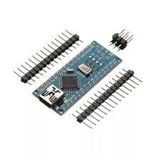 5 шт./лот мини USB CH340 Nano v3.0 3,0 ATmega328P плата контроллера Совместимость для Arduino Nano CH340 USB драйвер ATmega328
