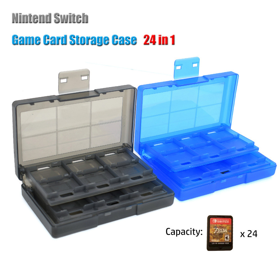 Nintend Case 24 In 1 Portable Game Card Case ABS Shockproof Hard Shell Protective Storage Box For Nintend Switch NS  Card Holder
