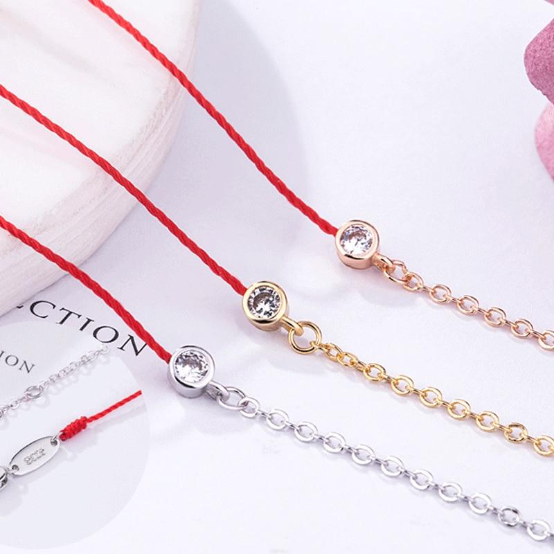 Red Thread Bracelet & Bangles a nők számára Red String Női Charms - Divatékszer