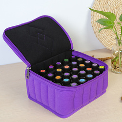 Portable 30 Bottles Essential Oil Carrying Shockproof Case Cosmetic Bag 15ml Oil Holder Travel Storage Box Nail Polish Organizer