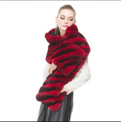 Arlenesain custom 2019 nieuwe fashion design rode wijn chinchilla bont superb prachtige wrap vrouwen sjaal 23*160 cm