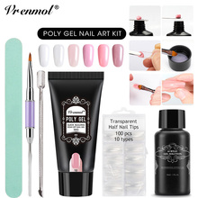 Vrenmol 30g Poly Gel Camouflage 6 Colors Extend Builder Nail Design Acrylic French Nail Tip Crystal Gum Jelly PolyGel