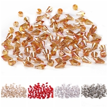 NEW Triangle Cone Crystal Beads AB 10pcs 6*12mm Austria Loose for Jewelry Making Crafts Curtain C-6