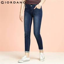 Джордано Женщины джинсы Slim Fit джинсовые штаны цвета индиго femininas одежда Jean повседневные Mujer эластичные джинсы женщина Vetements(China (Mainland))