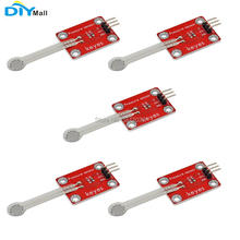 5pcs/lot DIYmall for Keyes Thin-film Pressure Sensor for Arduino micro:bit red and eco-friendly keyes kt0053 breadboard ceramic capacitors resistors more for arduino multicolored