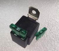 Automobile Relay With The Fuse 4Pin 12V 30A Relay Normally Open Type Car Part