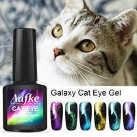 8ml Starry Sky 3D Cat Eye Gel Polish Soak Off Magnetic Nail Polish UV Gel Nail Art Gel Varnish Manicure Design ZJJ3036