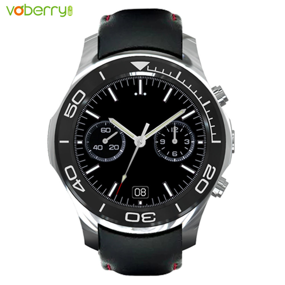 VOBERRY Android 5.1 Smart Watch MTK 6580 dual-core 512MB/8GB Video GPS Heart Rate Fitness Tracker SOS 5MP Camera 3G Smartwatch smart watch android 5 1 heart rate tracker gps sim 3g smartwatch phone 512mb ram 4gb rom front camera dual core waterproof watch