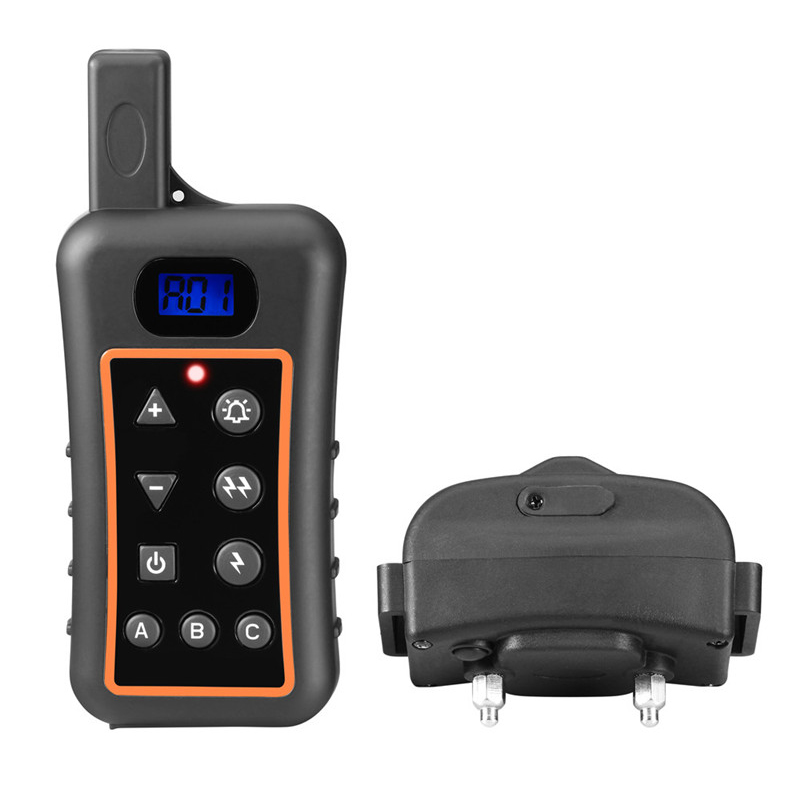 dog products safety static shock dog trainer waterproof and rechargeable remote dog electric collar for dog training